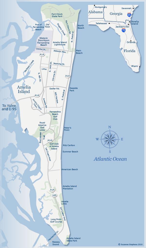 Map of Amelia Island