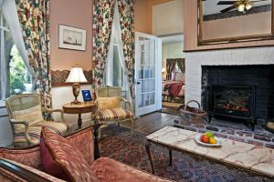 Historic living room with fireplace