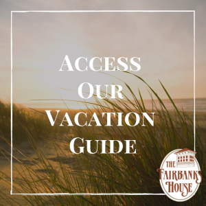 beach dunes text reads access our vacation guide