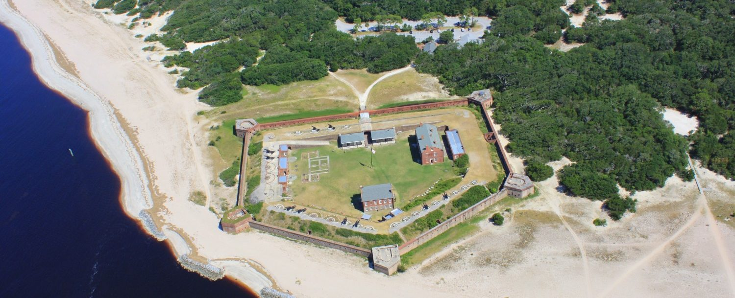 aerial view of fort clinch state park taken from a helicopter credit Theresa at Fairbanks House