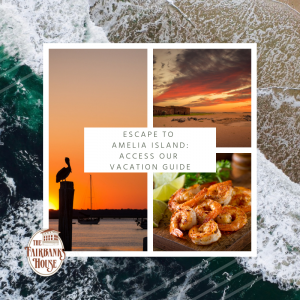 Explore Amelia Island: Access Our vacation guide. photos of the beach, the harbor at sunset and shrimp