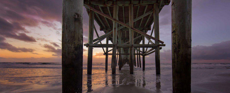 Fernandina Beach Pier Amelia Island Sunrise