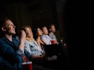 amelia island film festival viewers watching a movie