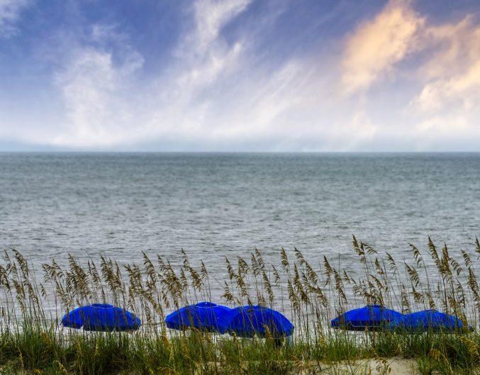 The Atlantic Ocean and Amelia Island Beach in eastern Florida